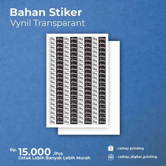 Stiker Vynil Transparan