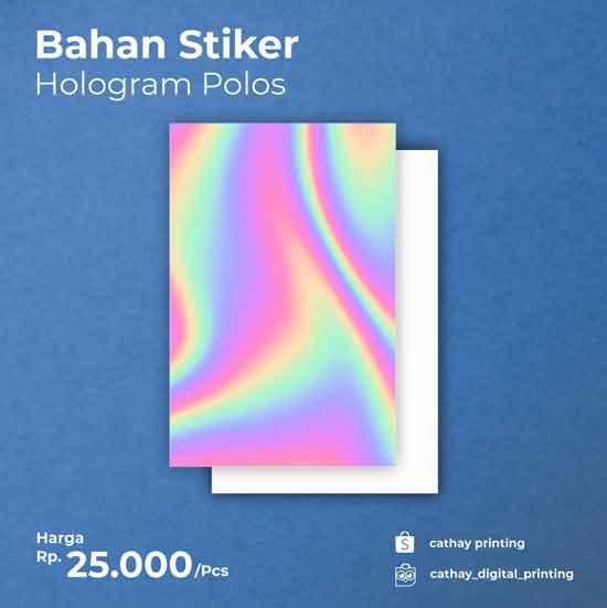 Sticker Hologram A3+ (Polos tanpa Print)