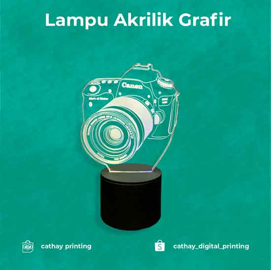 Lampu Grafir Akrilik