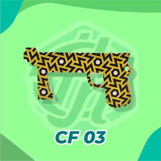 Corona Finger Akrilik CF03 (Yellow Pistol)