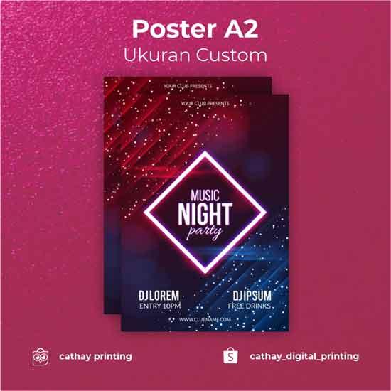 Poster Ukuran Custom