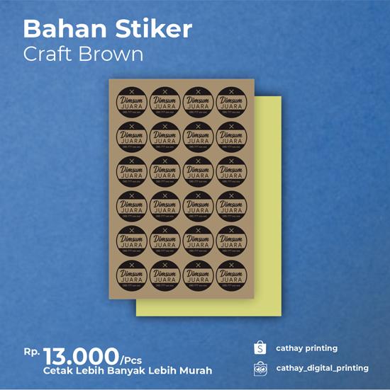 Stiker Craft Brown
